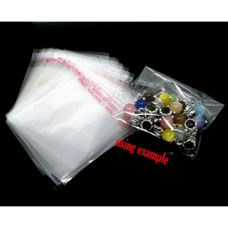 B07380: 200 pieces 7x6cm (Usable Space: 6x5cm) Plastic Self-Seal Bags Rectangle Transparent Packaging [ B8 ]