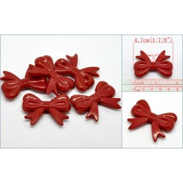 B19570: Red Butterfly Spacer Beads 4.7cmx3.7cm, 10 pieces [ C12 ]