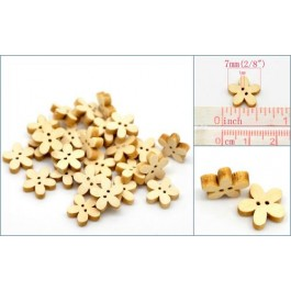 B20029: Flower 2 Holes Wood Buttons 7x7mm, 100 pieces [ B14 ]