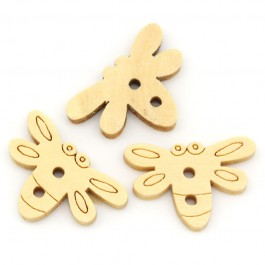 B20165: 25 pieces 20mmx14mm Dragonfly 2 Holes Wood Sewing Buttons Scrapbooking [ C18 ]