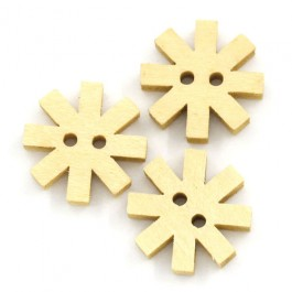 B24272: Buttons Flower Natural 15x15mm, 50 pieces [ B16 ]
