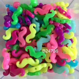 B24736B: Mixed Moustache 20x8mm, 100 pieces [ B1 ]