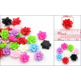 B24957: Resin Flower Mixed 13x12mm, 100 pieces [ C14 ]