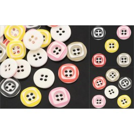 B25222: Resin Buttons Round 4 Holes 12.5mm, 200 pieces [ B9 ]