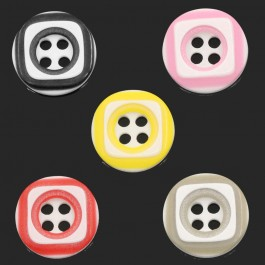 B25222: 200 pieces 12.5mm Resin Sewing Buttons Scrapbooking Round 4 Holes DIY kid Craft [ B9 ]