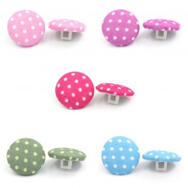 B25236: 100 pieces 16.5mm Handmade Woven Cloth Sewing Shank Buttons Round Dot DIY Sewing Craft Kid [ B14 ]