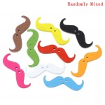 B32079: Wood Buttons Mustache 3.5cm x1.1cm, 50 pieces [ B3 ]