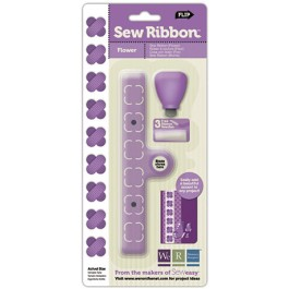 CT071: Sew Ribbon Tool Stencil-Flower