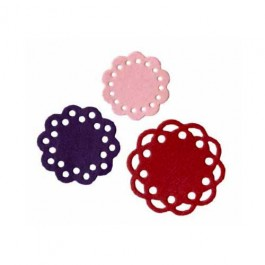 DC334: Lifestyle Crafts Quickutz 4 x 4 Die - Scallop Doilies