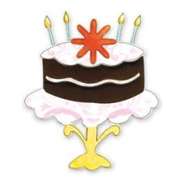 DC563: Sizzix: Bigz Die -Candles Flower Cake with Stand
