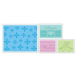 DC681: Sizzix Embossing Folders 4PK - WINTER SET #2