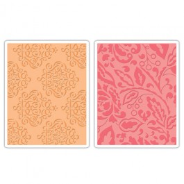 DC725: Sizzix Embossing Folder 2PK - CURLY GATE BERRY SPLASH SET