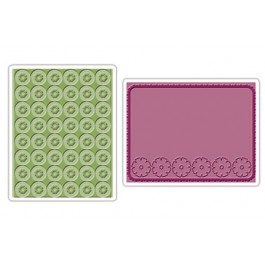 DC761: Sizzix Embossing Folder 2PK - CORNFLOWERS POSIES SET