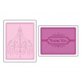 EM032: Sizzix Textured Impressions Chandelier Thank You Set