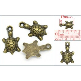 K02406: Charm Turtle Bronze 17x10mm, 50 pieces
