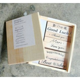 MC099: Wooden Message stamp set (8 pieces)
