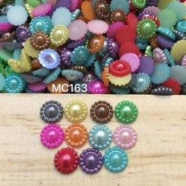 MC163: Acrylic Pearl Sunflower, 10.5x4.5mm,100 pieces/pack [ A23 ]