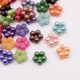 MC166: Acrylic Pearl Flower 9x4mm, 200 pieces/pack [ A19 ]
