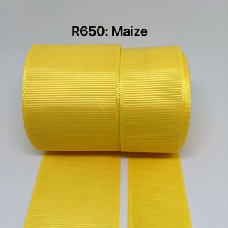 R650-38: MAIZE: Grosgrain Ribbon 38mm, 5 meter
