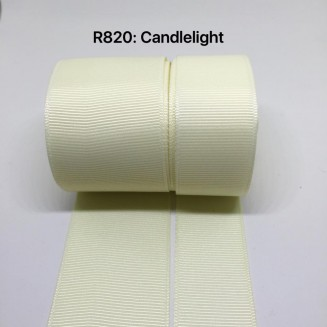 R820-38: CANDLELIGHT: Grosgrain Ribbon 38mm, 5 meter
