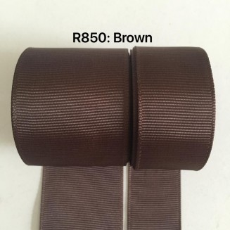 R850-38: BROWN: Grosgrain Ribbon 38mm, 5 meter