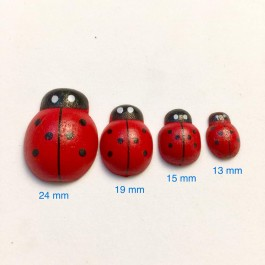 Dyed Ladybug Wood Cabochons Ladybird DIY Scrap Book Brooch Embellishment Kid Craft Card Making Home Decoration