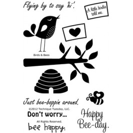 SM202: TT - BIRDS Birds and Bees - Clear Stamps