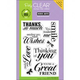 SM245: Hero Arts - Clear Stamps 4x6 inch - Made With Love