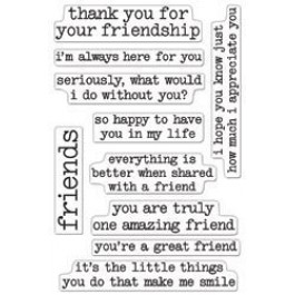 SM246: Hero Arts -Clear Stamps 4x6 inch - Thank You For Being My Friend