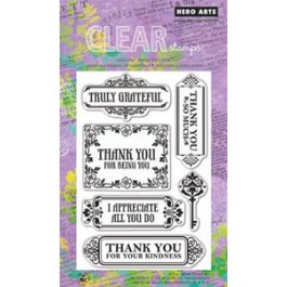 SM247: Hero Arts -Clear Stamps 4x6 - Truly Grateful