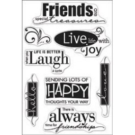 SM249: Hero Arts - Clear Stamps 4x6 - Live Life