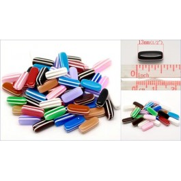 B18144: Straip Resin Cubic Beads 13mm, 200 pieces [ C18 ]
