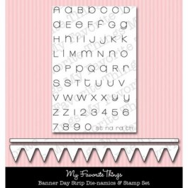 DC456: Die-namics Banner Strip Die MINI Alphabet Stamp Set