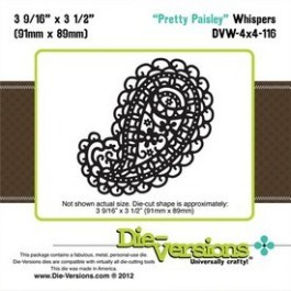 DD010: Die-Versions: Whispers - Pretty Paisley