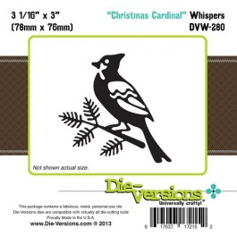 DD023: Die-Versions: Whispers - Christmas Cardinal