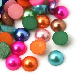 MC135: Mixed Acrylic Cabochons Pearl 12mm, 100 pieces [ B13 ]