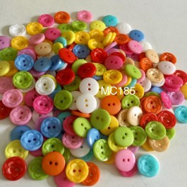 MC185: 100 pieces 15mm Acrylic Sewing Buttons for Clothes Design Plastic Buttons DIY Sewing Craft [ C17 ]