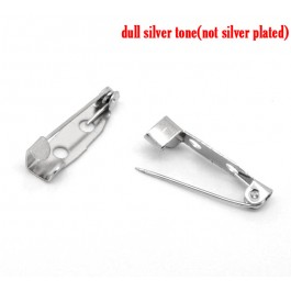 B16883: Silver Tone Brooch Back Pins 20x5mm, 100 piece/pack [ C6 ]