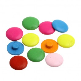 B32761: Wood Buttons Round Mixed 20mm, 100 pieces [ B6 ]