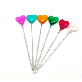 B16086: Mixed Heart Craft Sewing Pins 5.5cm,5 cases (5x30 pieces) [ A9 ]