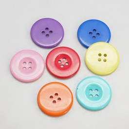 MC218: Dyed Flat Round Buttons 34x4mm, 10 pieces [ C2 ]