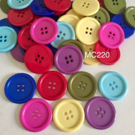 MC220: Dyed Flat Round Buttons 34x4mm, 10 pieces [ B8 ]