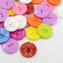MC234: Plastic Buttons for Costume Design 25x4mm, 50 pieces [ A11 ]