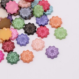 MC242: Dyed Flower 13x3mm, 100 pieces/pack [ B13 ]