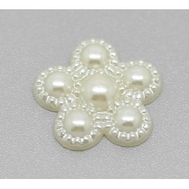B19293: Acrylic Flower Findings 17mmx17mm, 200 pieces [ B7 ]