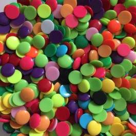 MC276: 100 pieces 16x4mm Solid Colour Dome Acrylic Cabochons Dome Half Round DIY Brooch Craft Kids Hair Accessory [ A22 ]