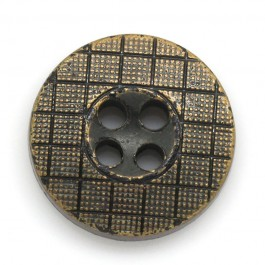 B25152: Acrylic Buttons Antique Grid 13mm, 200 pieces [ B16 ]