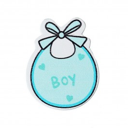 B43903: Baby Bib Blue boy 3.4cm x 2.7cm, 50 pieces [ C11 ]