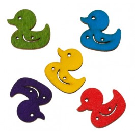 B46037: Wood Button Duck Mixed 25x24mm, 100 pieces [ C11 ]