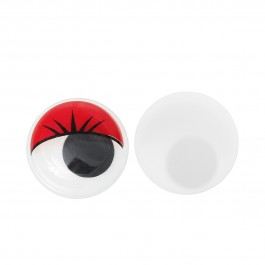 B35231: Wiggle Eyes Round Flatback Red 10mm, 50 pieces/pack